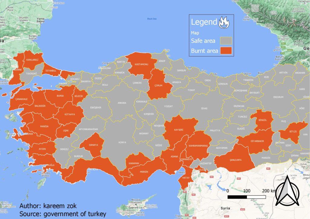 fires turkey