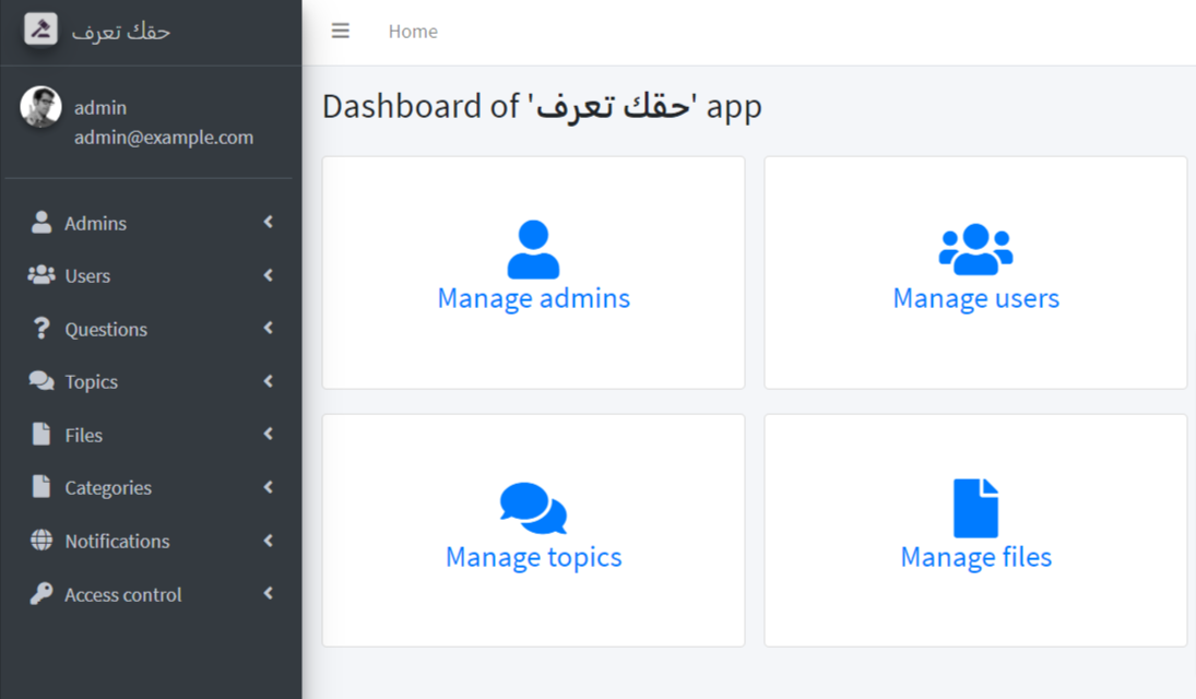 'Your right to know' dashboard – حقك تعرف